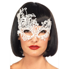 Venetian Applique Eye Mask. Available in Black and White
