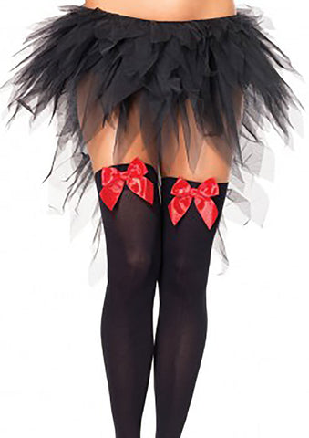 Witchy Tulle Tutu Skirt With Train - Black