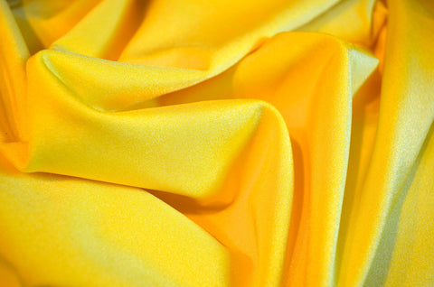 Yellow Shiny Tricot Nylon Spandex