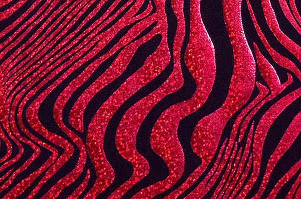 Red Zebra Print Hologram Foil