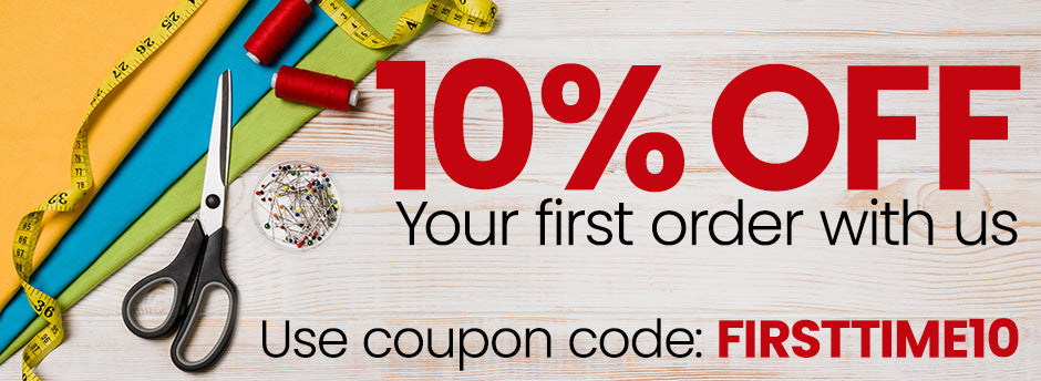 10% Off your first order with us!