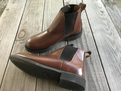 Bolder - 90112 - WELT  Slip on boot,  in Brown Leather