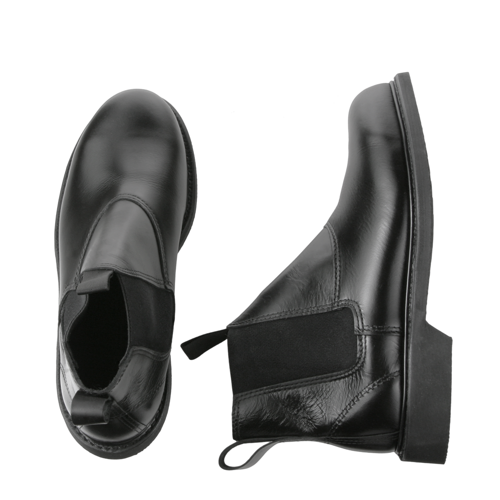 Molder 90109 Welt Steel Toe Slip On Boot In Black