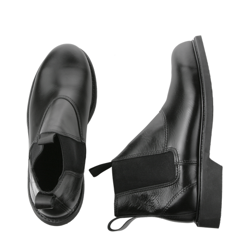 Molder - 90109 - WELT Steel toe Slip on boot,  in Black Leather