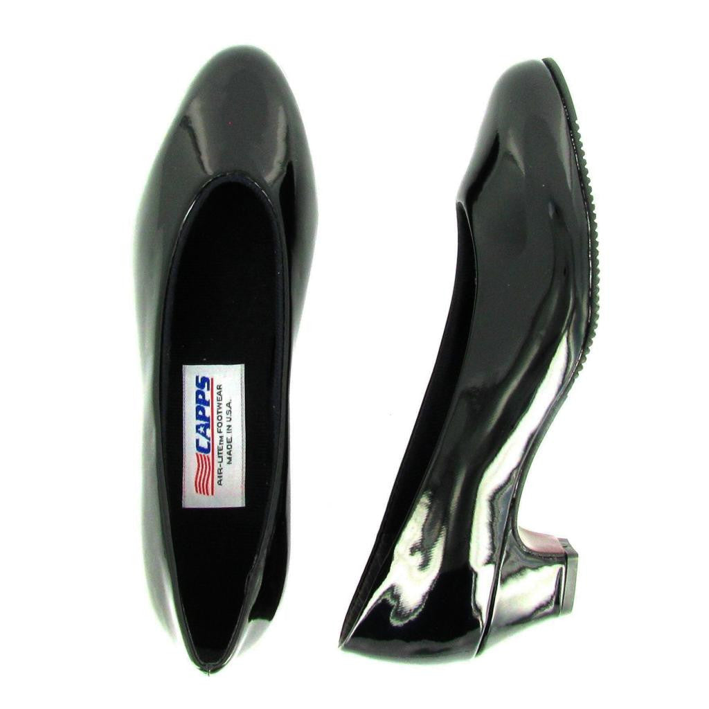 Ace - 90045 - Medium Heel Pump, Black Shiny