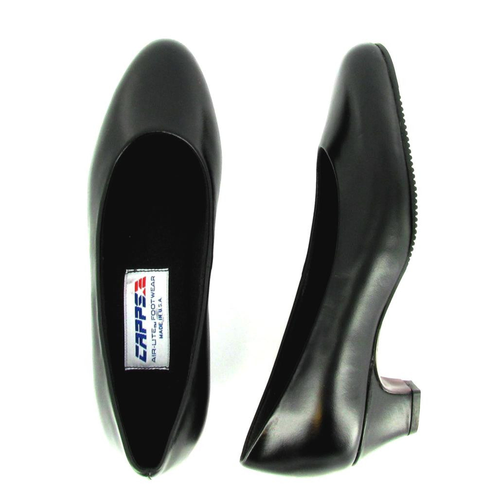 Ace - 90046 - Medium Heel Pump, Black Leather
