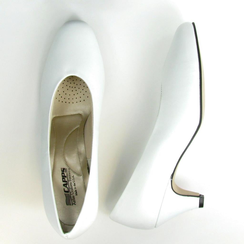 Angel-High - 90123 - High Heel Pump, White Leather