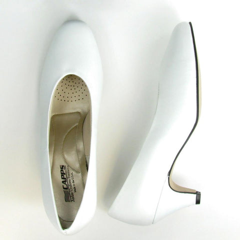 Angel-High - 90123 - White Leather High Pump