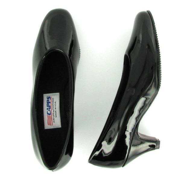 Flight 90040 Black Shiny Patent High Pump Uniform