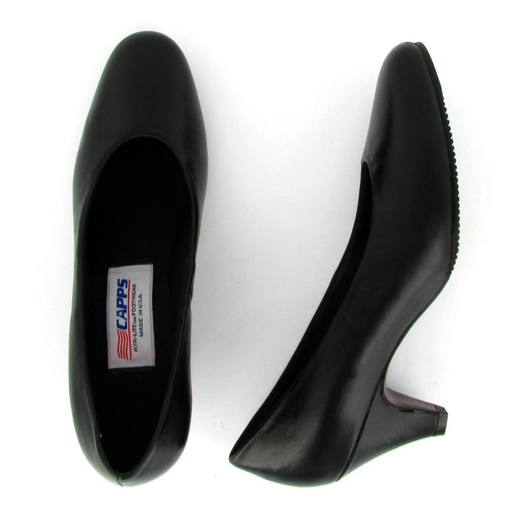 Flight - 90041 High Heel Pump, Black Leather