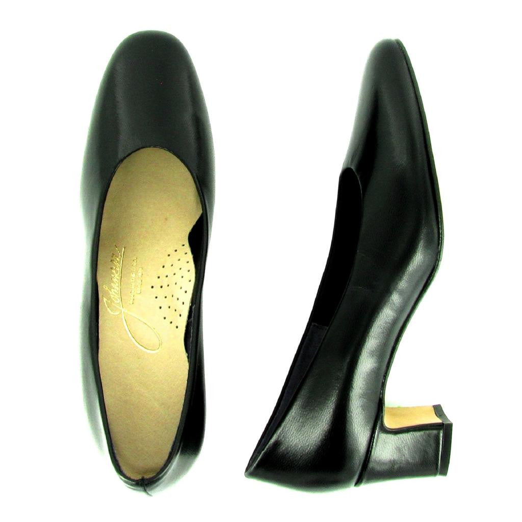 Laura - 90155 - High Heel Pump, Black Leather