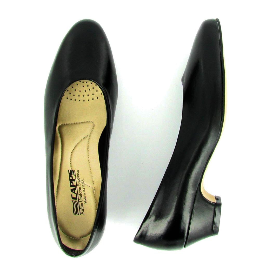 Sail - 90231 - Low Heel Pump, Black Leather