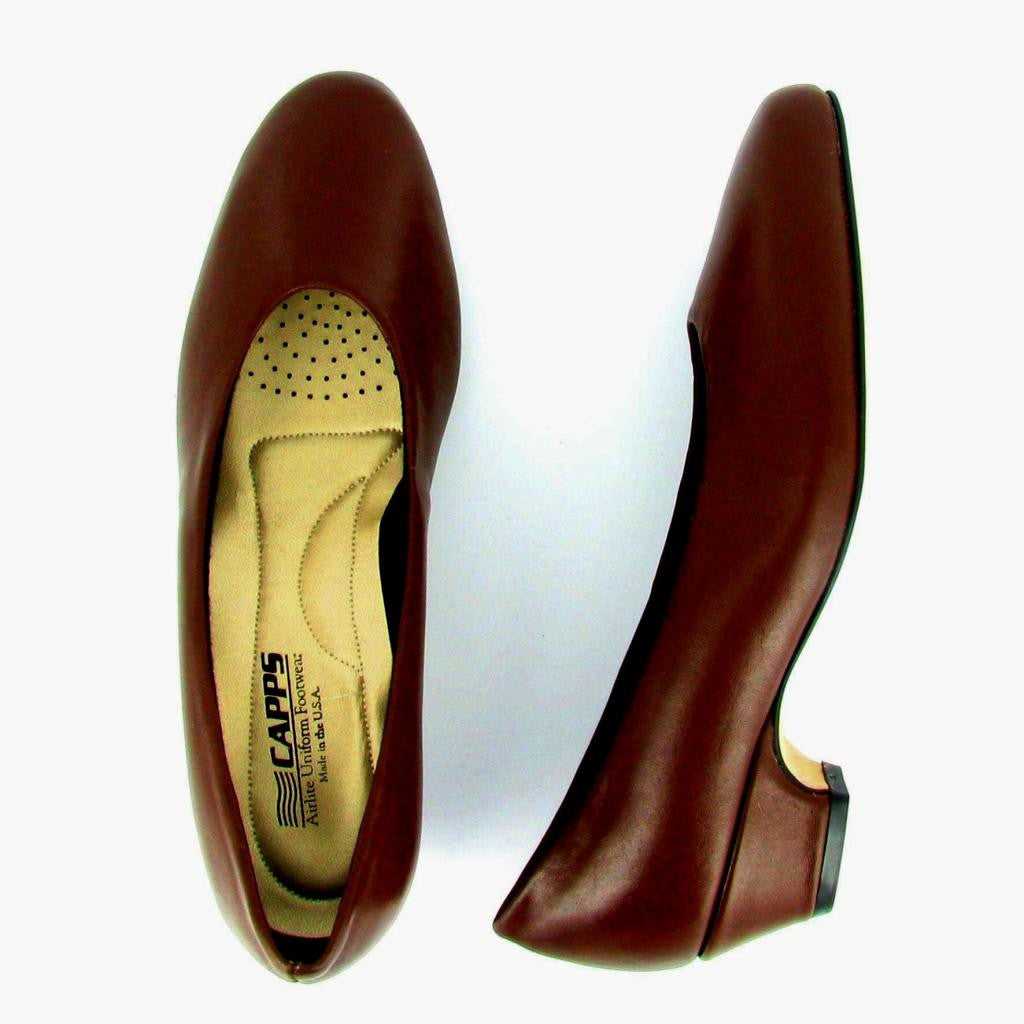 Sail - 90232 - Low Heel Pump, Brown Leather