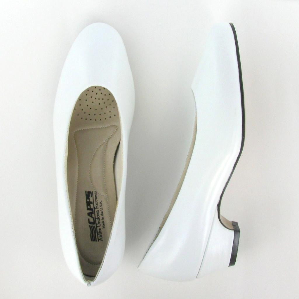 Sail - 90233 - White Leather Low Pump