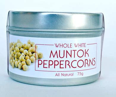 Peppercorns, White Muntok (Whole)