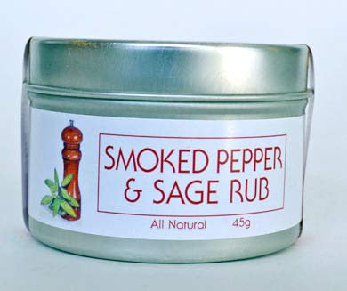 Smoked Pepper and Sage Rub