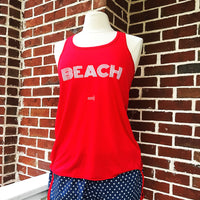 Run This Town Tank in Red BEACH