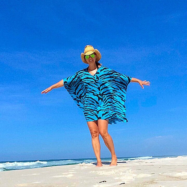 Beach Day Caftan in Wild