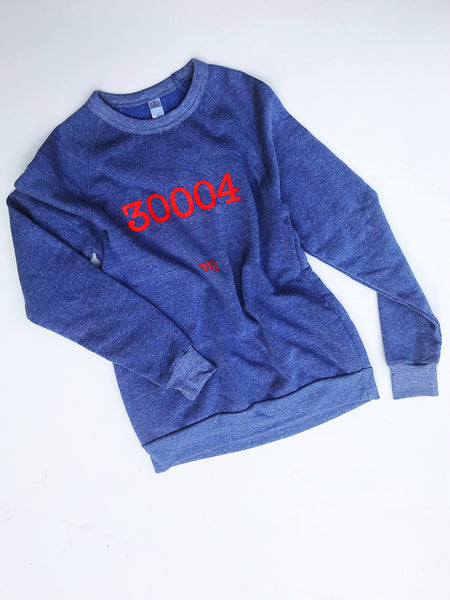 Zip Code Sweatshirt - Beach Sky Blue