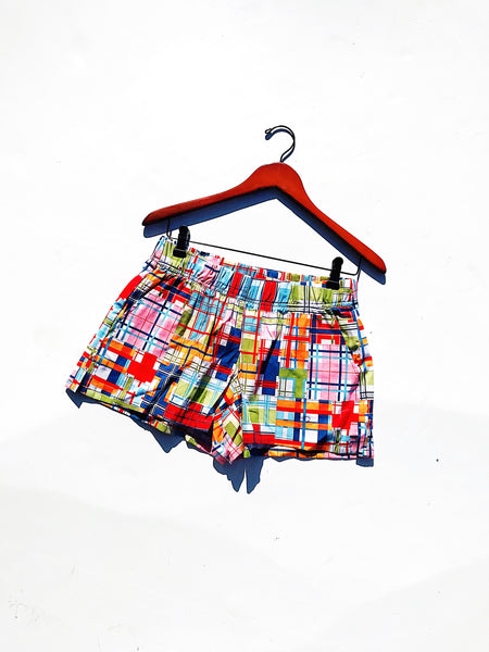 Sand Beach Shorts in Cherry Patchwork Print