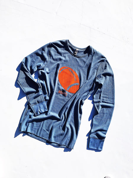Tailgate Thermal in Light Blue & Orange
