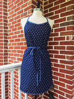 St. Simon's Island Apron in Denim Hearts