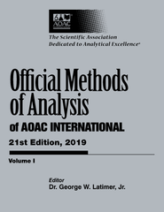 OFFICIAL METHODS OF ANALYSIS of AOAC INTERNATIONAL 21st Edition, 2019