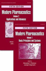 Modern Pharmaceutics Fifth Edition Two-Volume Set by Alexander T. Florence