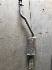 Cat back exhaust section for a Porsche 944 na