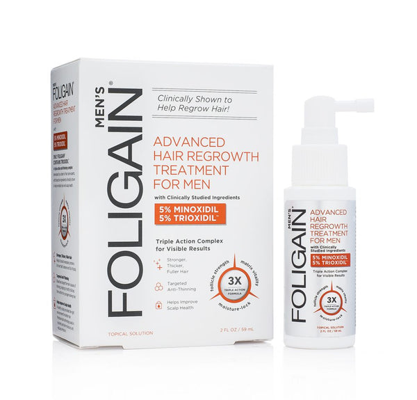 FOLIGAIN ADVANCED HAIR TREATMENT For Men with 5% Minoxidil & 5% Trioxidil® (2oz) 59ml