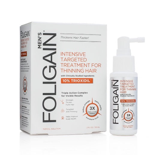 FOLIGAIN HAIR LOSS TREATMENT with 10% Trioxidil® (2oz) 59ml
