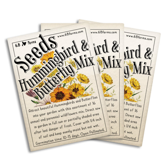 Hummingbird & Butterfly Mix Seeds