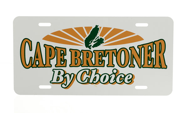 Cape Bretoner By Choice License Plate