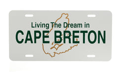 Living The Dream InCape Breton License Plate