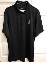 Men's Black CB Tartan Golf Shirt