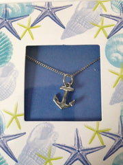 Pewter Necklace with Anchor Charm (CD-38)