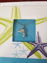 Pewter Necklace with Dolphin Charm (CD-43)