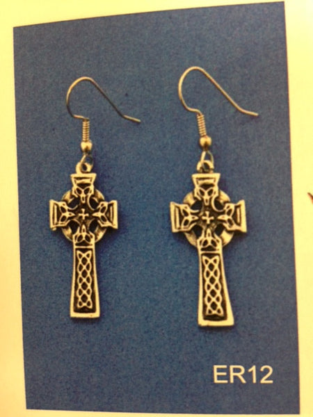 Celtic Cross Earrings- ER12