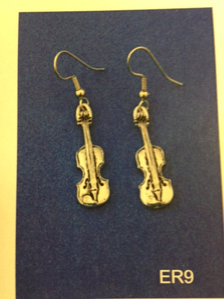 Earrings (Piper Pewter Fiddle ER9)
