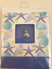 Pewter Necklace with Shell Charm CD-22