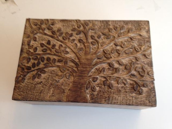 Small Wooden Box Tree Of Life