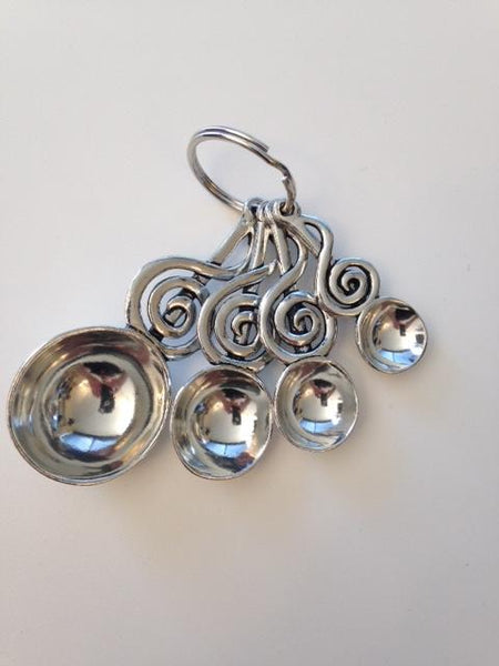 Pewter Treble Clef Measuring Spoons