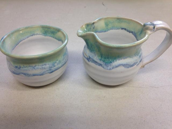 Ocean Waves (Cream And Sugar Set Of two)