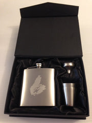 Cape Breton Stainless Steel Flask Set