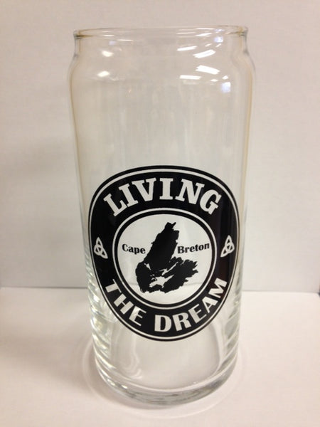 """Living the Dream"" 20 Oz. Beer Glass"