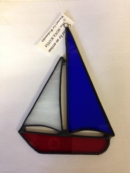 Stained Glass (Sailboat 4 in X 3 in)