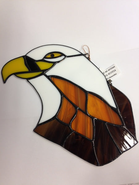 Eagle Head - Stained Glass