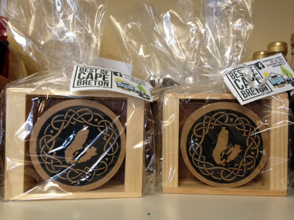 Cape Breton Celtic Knot Wooden Coasters