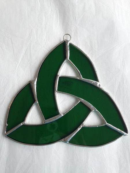 Green Small Celtic Knot Stained Glass