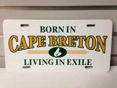 "Cape Breton ""Living in Exile"" License Plate"